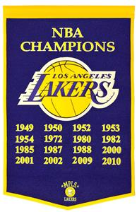 Winning Streak NBA Los Angeles Lakers Banner