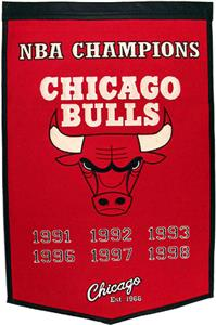 Winning Streak NBA Chicago Bulls Dynasty Banner
