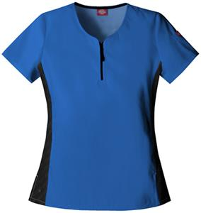 Dickies Women's Hip Flip Zip Front Scrub Tops