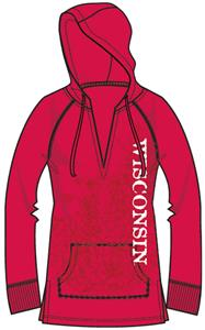 Wisconsin Badgers Womens Cozy Pullover Hoody