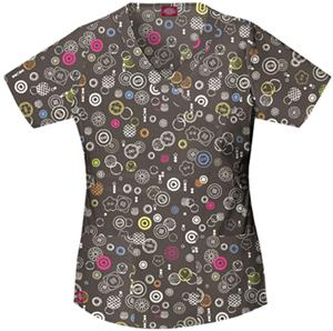 Dickies Women's Gen Flex Print Mock Neck Scrub Top