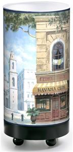 Illumalite Designs Havana Street Scene Table Lamp