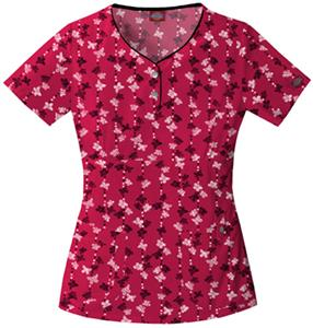 Dickies Women&#39;s Gen Flex Print Henley Scrub Tops