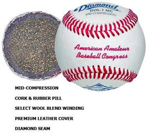 Diamond DOL-1 MC AABC Baseballs Close-Out