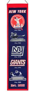 Winning Streak NFL New York Giants Heritage Banner
