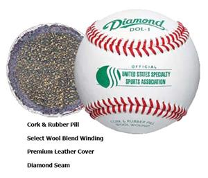 Diamond DOL-1 USSSA Approved Baseballs Closeout