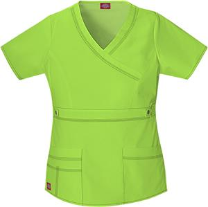 Dickies Women's Gen Flex Mock Wrap Scrub Tops