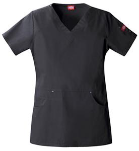 Dickies Women's Enzyme Washed V-Neck Scrub Tops