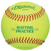 Diamond Optic Yellow Batting Practice Baseballs