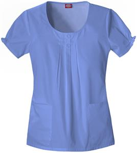 Dickies Women's Enzyme Washed Round Scrub Tops