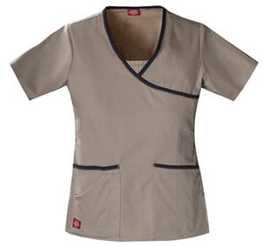 Dickies Women's Hip Flip Mock Wrap Scrub Tops