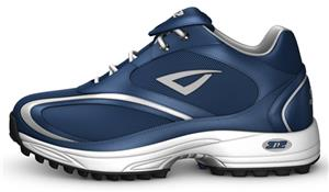 3n2 Momentum Trainer Lo Patent Leather Navy Shoe
