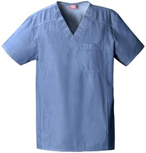 Dickies Unisex New Blue V-Neck Scrub Tops