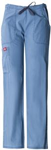 Dickies Women&#39;s New Blue Pintuck Pocket Scrub Pant