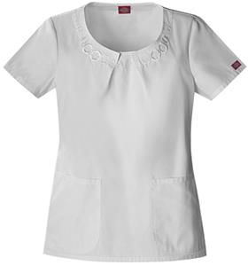 Dickies Women's Fashion Scoop Neck Scrub Tops