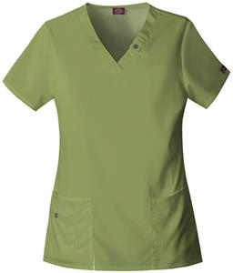 Dickies Women's Natural V-Neck Scrub Tops