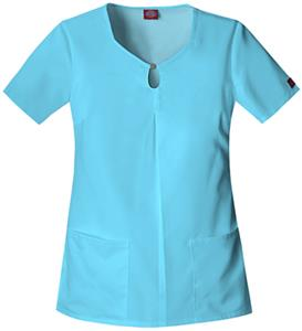 Dickies Women's Natural Keyhole Scrub Tops