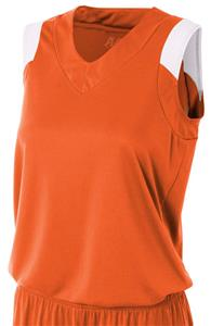 A4 Womens Moisture Management V-Neck Muscle Jersey