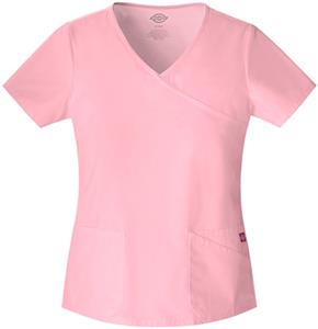 Dickies Women&#39;s Original Jr. Fit Mock Wrap Scrubs
