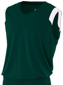 A4 Moisture Management V-Neck Muscle Jersey