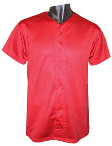 Full Button Front Mesh Baseball Jersey-Closeout