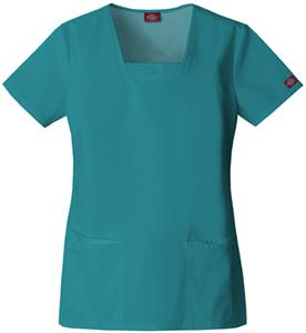Dickies Women&#39;s EDS Square Neck Scrub Tops