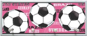 Illumalite Designs Pink Soccer Balls Wall Plaque