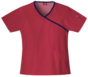 Dickies Women's EDS Mock Wrap Scrub Tops