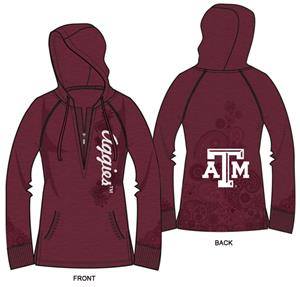 Texas A&amp;M Womens Burnout Fleece Hoody