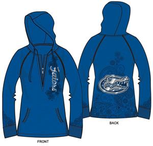 Florida Gators Womens Burnout Fleece Hoody