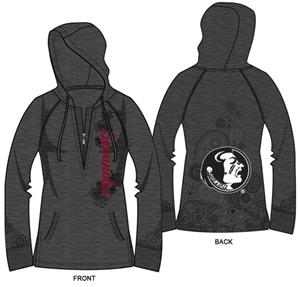 Florida State Womens Burnout Fleece Hoody