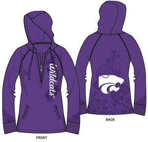 Kansas State Womens Burnout Fleece Hoody