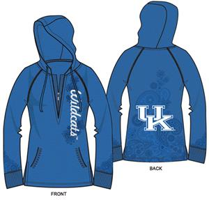 Kentucky Wildcats Womens Burnout Fleece Hoody