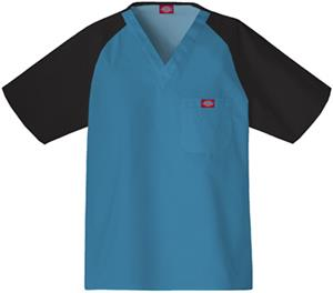 Dickies Men's EDS Raglan Color Block Scrub Tops