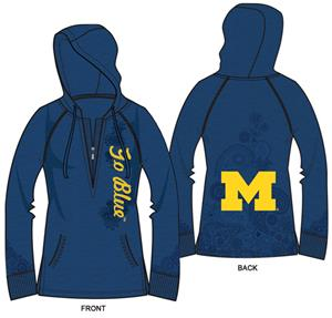 Emerson Street Michigan Wolverines Womens Hoody
