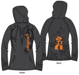 Oklahoma State Womens Burnout Fleece Hoody