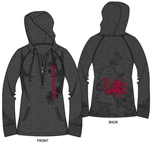 South Carolina Womens Burnout Fleece Hoody