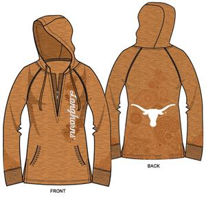 Texas Longhorns Womens Burnout Fleece Hoody
