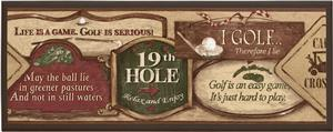 Illumalite Designs Golf Signs Wall Plaque