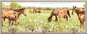Illumalite Designs Peaceful Horses Wall Plaque