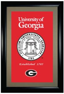 Winning Streak University of Georgia Framed Banner