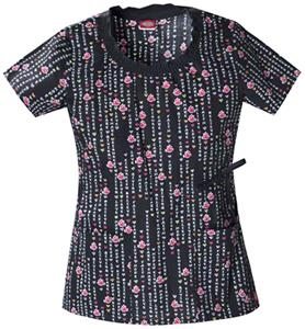 Dickies Women's Gen Flex Print Rnd Neck Scrub Tops