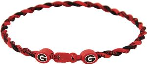 Eagles Wings NCAA Georgia Titanium Twist Necklaces