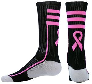 Red Lion Cancer Awareness Ribbon Vapor Crew Socks