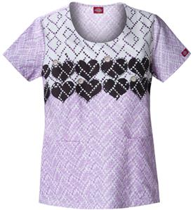 Dickies Women's Hip Flip Print Rnd Neck Scrub Tops