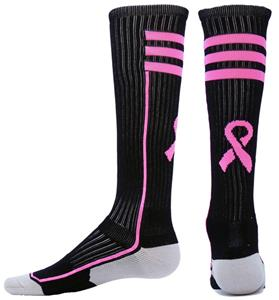 Red Lion Cancer Awareness Ribbon Laser Socks