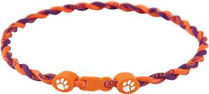Eagles Wings NCAA Clemson Titanium Twist Necklaces