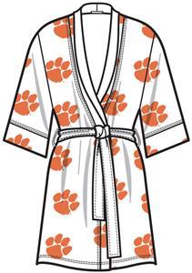 Emerson Street Clemson Womens Spa Kimono Robe