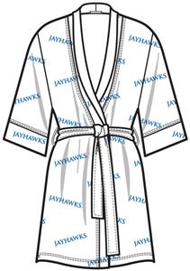 Kansas Jayhawks Womens Spa Kimono Robe