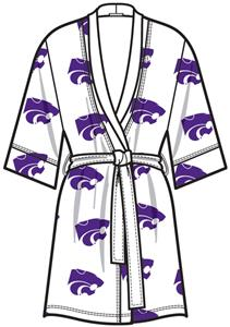 Kansas State Womens Spa Kimono Robe